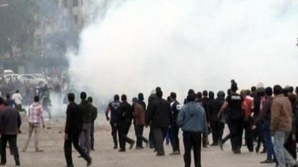 ااا تجدد الاشتباكات بين الأمن والطلاب بمحيط جامعة الأزهر