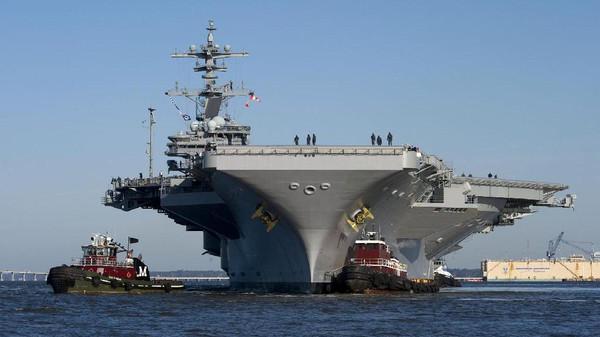 اسطول أميركا: تحريك حاملة طائرات إلى الخليج العربي