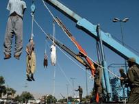 اعدام اعدام عشرة من مهربي المخدرات شنقا في إيران