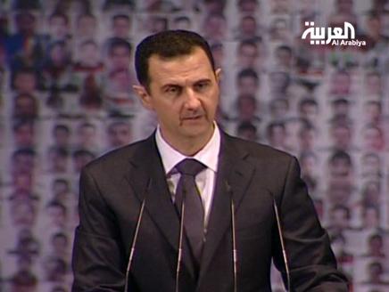 الاسد(2) الأسد يطرح مبادرة على معارضة الداخل ويتهم الخارج بالعمالة
