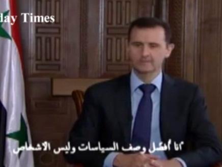 الاسد2 الأسد يرفض الاعتراف بسقوط 70 ألف قتيل في بلاده