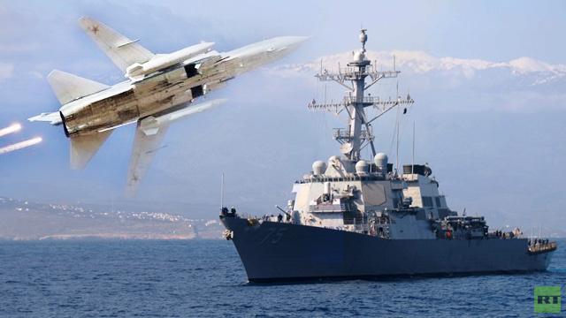 البتاغون البنتاغون يعترف أن تحليق القاذفة الروسية سو – 24 فوق مدمرة أمريكية ارعب أفراد طاقمها