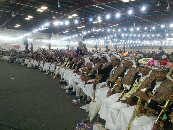 البر جمعية البر والعفاف تحتفي بالعرس الجماعي الرابع عشر بزفاف 1100 عريس وعروس