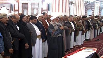 القاضي2 تشييع جثمان الشهيد القاضي يحيى ربيد وعدد من افراد اسرته