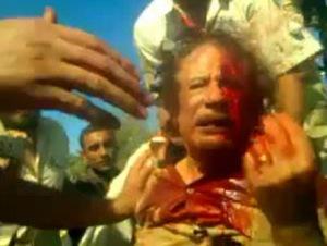 القذافي جثة القذافي تلهب خيال بعض الفنانين