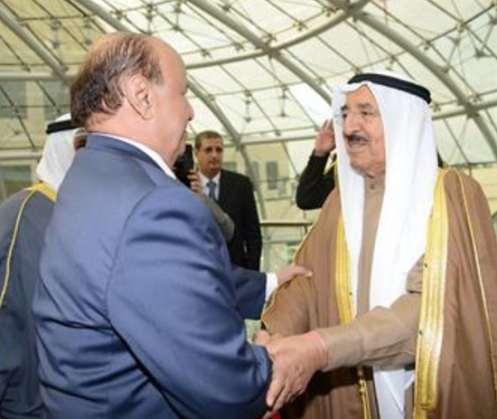 الكويت1 مصادر تكشف سر الزيارة الخاطفة للرئيس هادي الى الكويت