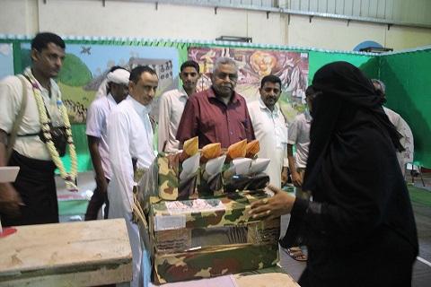 المعرض1 افتتاح المعرض السنوي للأعمال الفنية لمدارس محافظة الحديدة