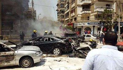 النائب اغتيال النائب العام المصري في انفجار سيارة ملغومة