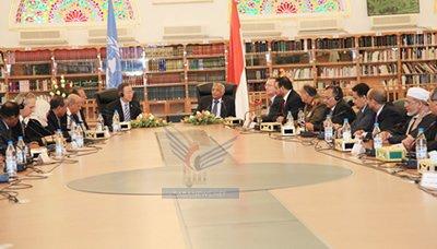 الوزراء اجتماع استثنائي لحكومة الوفاق الوطني بحضور الأمين العام للامم المتحدة