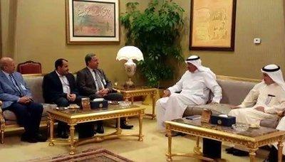 الوفد1 الوفد الوطني يلتقي وزير الخارجية الكويتي