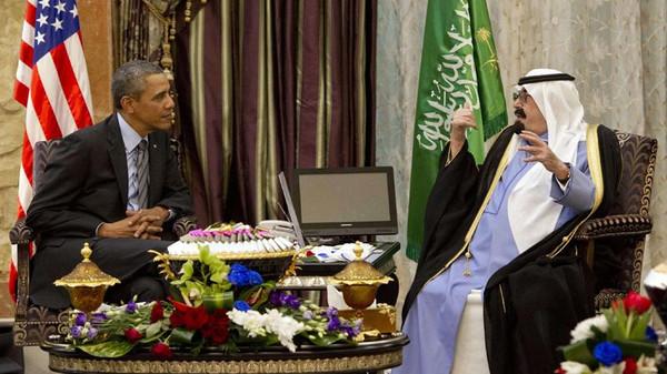 اوباما4 العاهل السعودي يستقبل الرئيس الأميركي