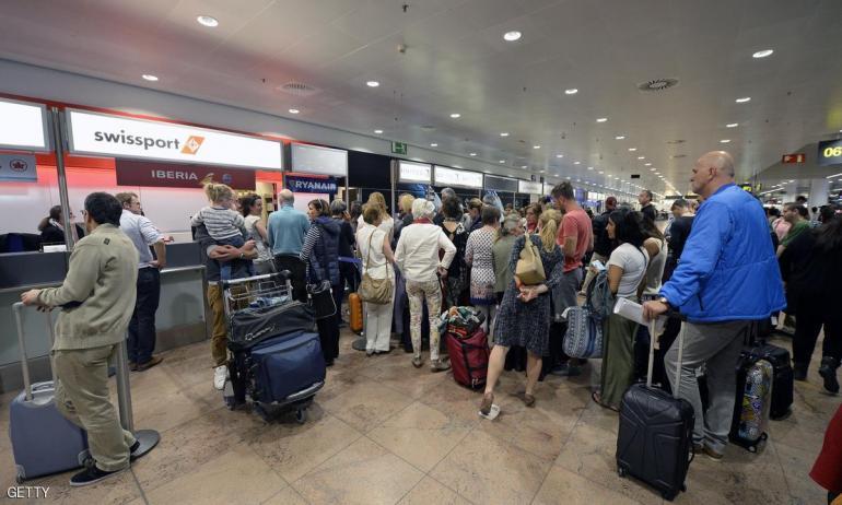بروكسل1 إلغاء 50 رحلة طيران بسب إضراب جديدة في مطار بروكسل