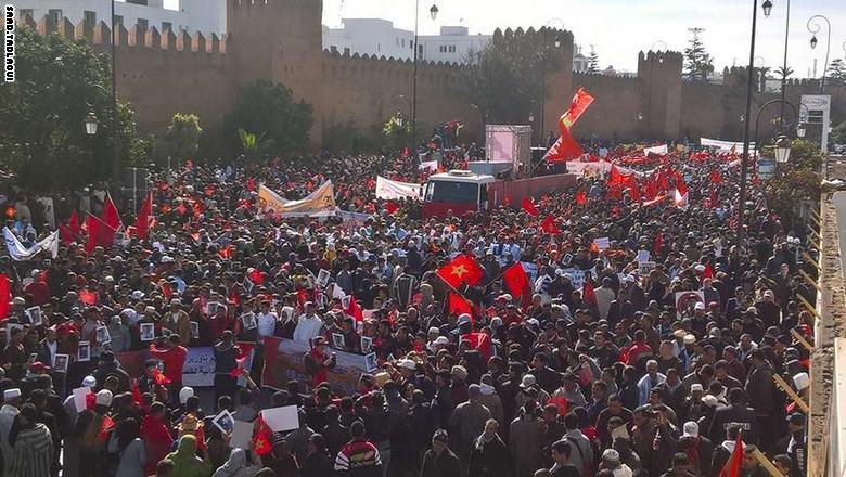 تونس3 مئات آلاف المغاربة يتظاهرون ضد بان كي مون وشعارات تصفه بالجبان