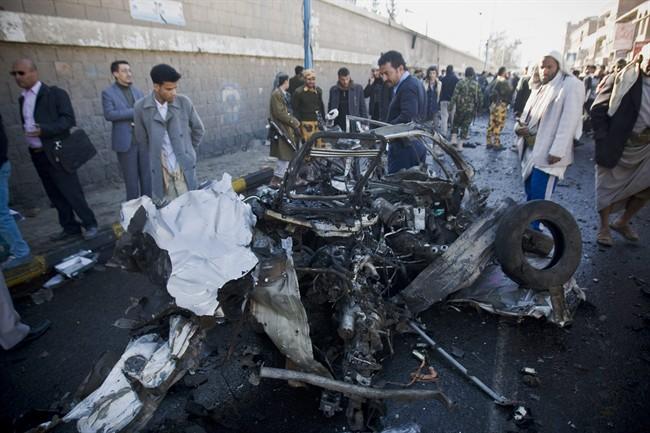 حادث كلية السلطات الأمنية بصنعاء تلقي القبض على منفذي تفجير كلية الشرطة الإرهابي