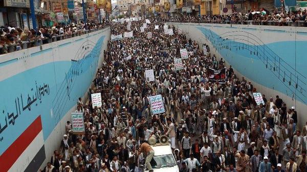 حركة اشهار حركة رفض في صنعاء لمناهضة الحوثيين
