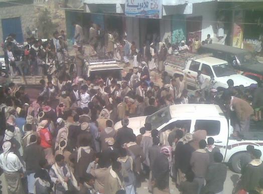 حوثيين أول تظاهرة في محافظة صعدة ضد جماعة الحوثي