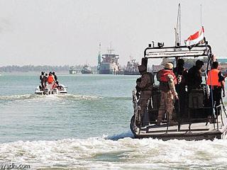 خفر(1) قوات خفر السواحل والأمن اليمنية تحتجز سفينة على متنها أسلحة في المياه الإقليمية اليمنية