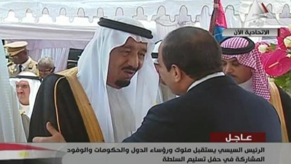 سلطان قادة عرب ووفود دولية في حفل تسلم السيسي السلطة