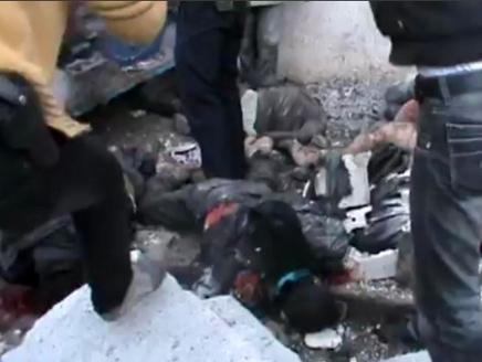 سوريا مشاهد مروعة لمجزرة ارتكبها النظام السوري بريف حماة