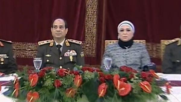 سيسي أول ظهور رسمي لزوجة السيسي خلال حفل عسكري