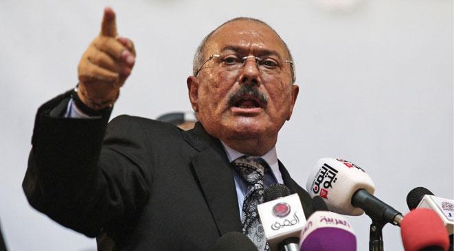 صالح5 صالح: أي هجوم على تعز هجوم على اليمن