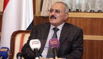 صالح6 رئيس المؤتمر الشعبي يدعو الشعب اليمني إلى التلاحم لمواجهة العدوان السافر