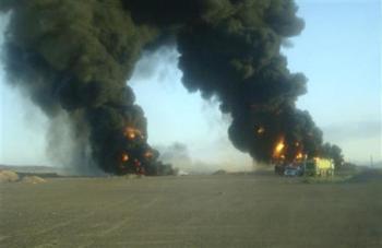اليمن: معارك بالصواريخ مع مفجّري النفط والطاقة و نجاة قائد عسكري من محاولة اغتيال
