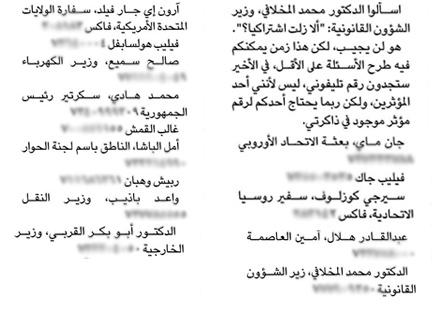 صوره ويكيليكس اليمن: صحافي ينشر أرقام هواتف كبار المسؤولين