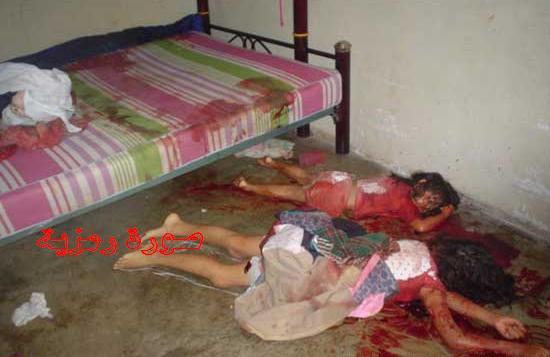 ضحايا ذبح أسرة شمالية بالفأس على يد جار لها بعدن