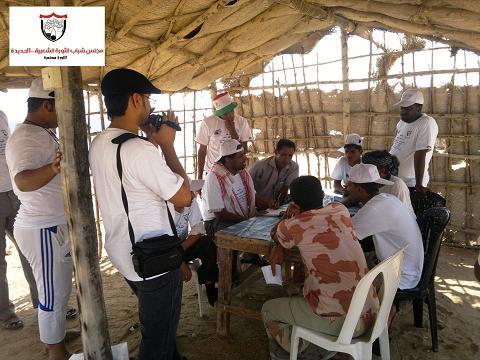 كمران7 (1)(1) الحديدة : مجلس شباب الثورة يزورون جزيرة كمران ويطلعون على هموم وأحتياجات المواطنين
