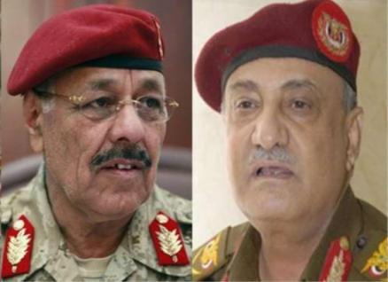 محسن ووزير صحيفة: وزير الدفاع الأسبق وعلي محسن يديران العدوان على اليمن من غرفة عمليات بالرياض
