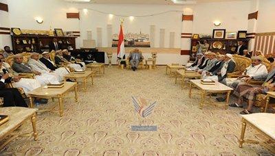 مشائخ ماذا قال رئيس الجمهورية لمشائخ اليمن عند لقاءه بهم اليوم