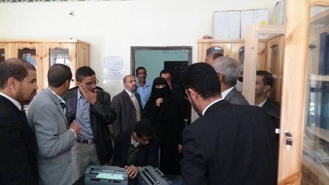 مكفوفين1 الجمعية اليمنية لرعاية وتأهيل المكفوفين تفتتح معمل الكمبيوتر الناطق وقاعة احتفالات