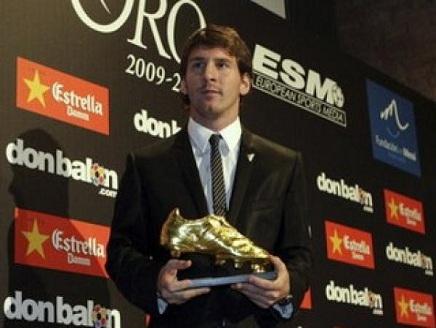 ميسي(1) ميسي سيتسلم جائزة الحذاء الذهبي الأوروبية2012