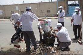 نظافة2 استعدادات لتنفيذ حملة نظافة شاملة تحت شعار(بالنظافة حياتنا أجمل)