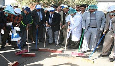 نظافه حملة النظافة بالعاصمة صنعاء رسالة وطنية لتعزيز المشاركة المجتمعية مع الجهود الحكومي