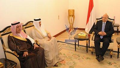 هادي(15) رئيس الجمهورية يستقبل أمين عام مجلس التعاون الخليجي
