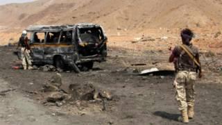 هجوم1 10 قتلى على الأقل في هجومين انتحاريين على نقاط تفتيش في اليمن