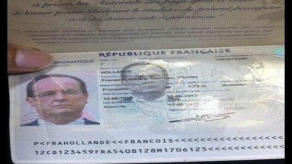 هولاندد القبض على مسرّب جواز الرئيس الفرنسي