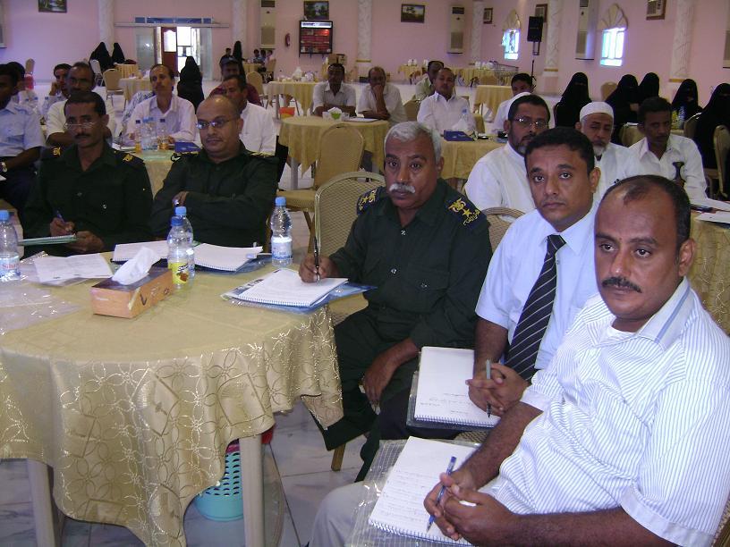 1(36) الحديدة : تعريف رجال الشرطة والقضاء والمحاميين بحقوق الأنسان والنوع الاجتماعي