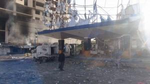 11153 300x168  شاهد ما أحدثتة طائرات العدوان السعودي في جسر المصباحي من دمار هائل في المحلات والممتلكات الخاصة بالمواطنين بصنعاء
