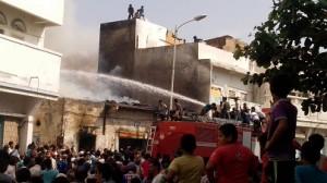 1559306 645043322222370 575284725 o 300x168 حريق هائل يلتهم محلات تجارية  وعدد من المنازل بالحديدة  صور
