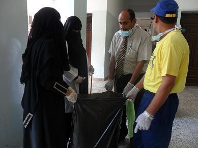 3(32) حملة نظافة واسعه في المعهد العالي للعلوم الصحية بالحديدة