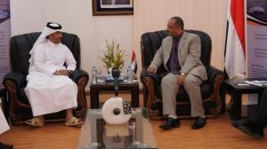 317 300x168 وزير النقل يبحث مع السفير القطري بصنعاء اوجه التعاون المشترك