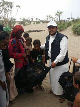 3410  مؤسسة مزن الخيرية توزع 300 حقيبه نظافه شخصيه للمرضى المصابين بالأمراض الجلديه