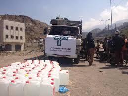 398 تمدين شباب تنظم قافلة إنسانية لإغاثة سكان مدينة تعز