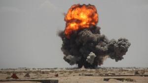 4105 300x168 18 غارة للتحالف في حرض والحوثيون يردون بصاروخين باليستيين
