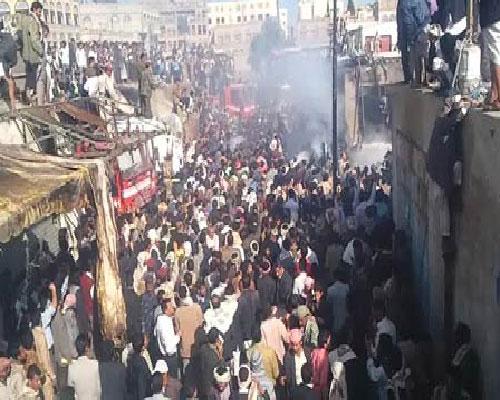 7 سقوط طائرة نقل عسكرية في منطقة الحصبة بصنعاء ومقتل قائدها و 9 من المتدربين
