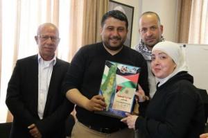 778 300x199 فلسطين : فتح  بالقدس تكرم الصحفية ديالا جويحان