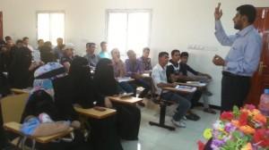 994 300x168 كلية اللغات بجامعة عدن تقيم ورشة عمل حول بناء القدرات لطلاب البكالوريوس ترجمة